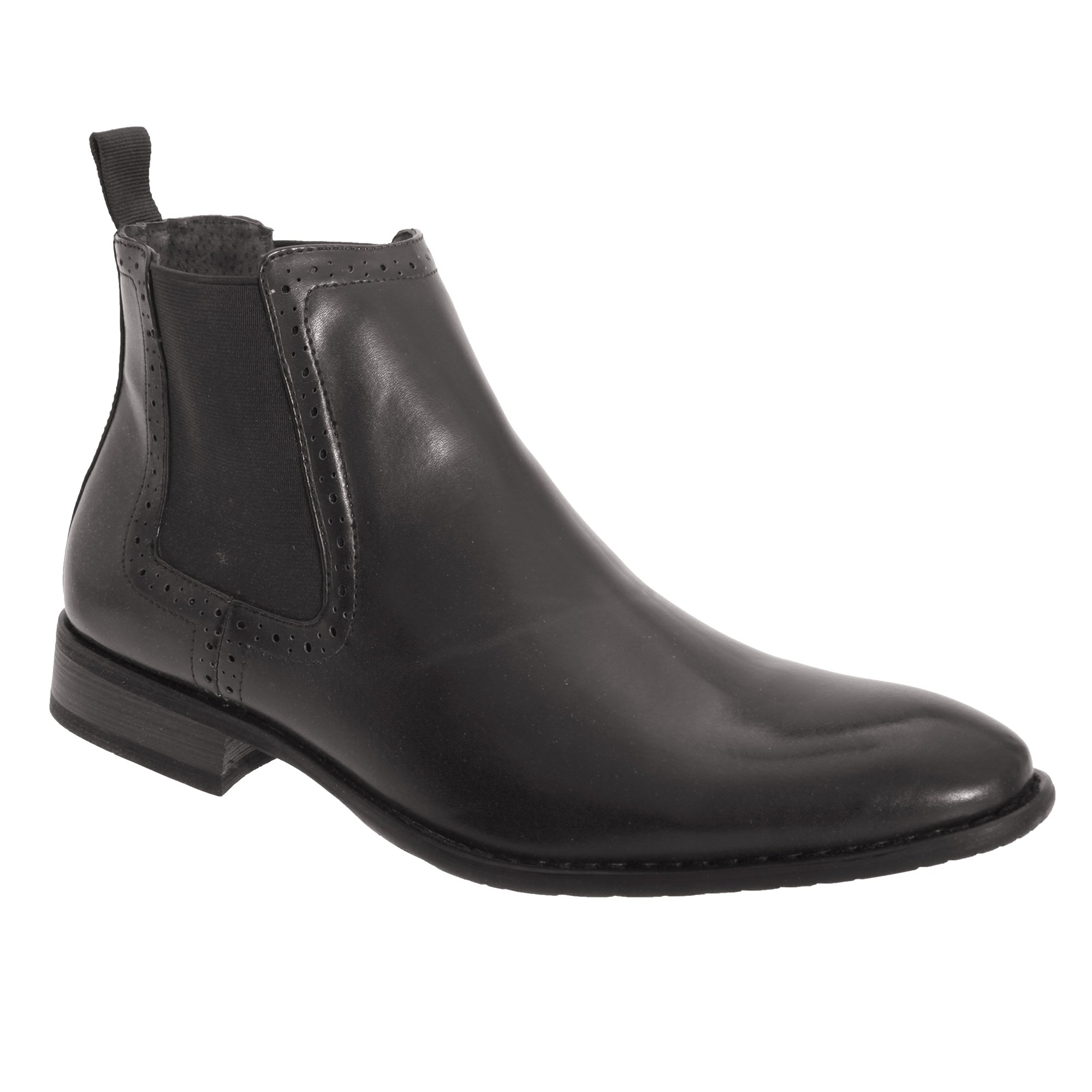 Route 21 Mens Twin Gusset Ankle Boots (9 US) (Black)