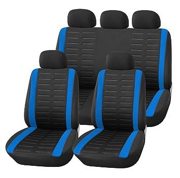 Auto Accessori Interni v431173  Coprisedili per auto tuning Universale in Bianco e Nero Coprisedili K-Maniac coperture sedili auto set sedili anteriori