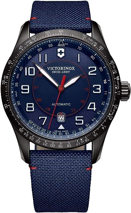 Victorinox uomo airboss mechanical - orologio automatico fabbricato in svizzera - nero/navy 241820