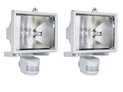 Brennenstuhl Halogenstrahler 500 mit Bewegungsmelder Flutlicht Außenleuchte weiß