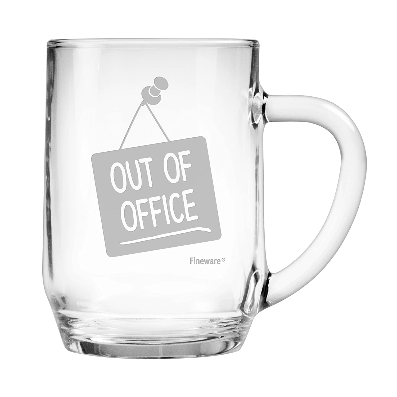 Taza de cerveza Fineware Out of Office de 19.5 onzas, grande, de ...