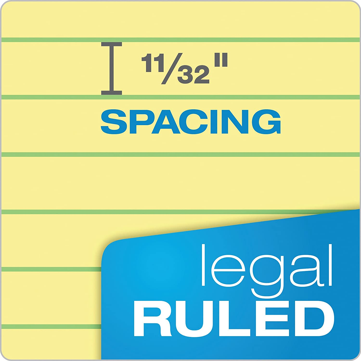 Canary Margin Perf 8-1//2x14 Legal Rule Pads 50 Shts Dozen Ampad 20-280 Evidence Recyc