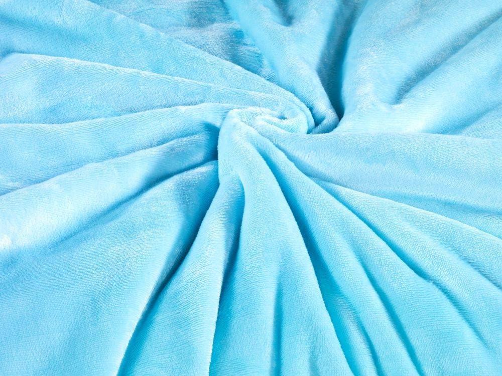 MALIKA kuschelige Cashmere-Touch Spannbettlaken Jersey Fleece Spannbetttuch Bett Kinderbett Couch Flauschiges Laken Tagesdecke,Himmelblau,180x190-200x200 cm