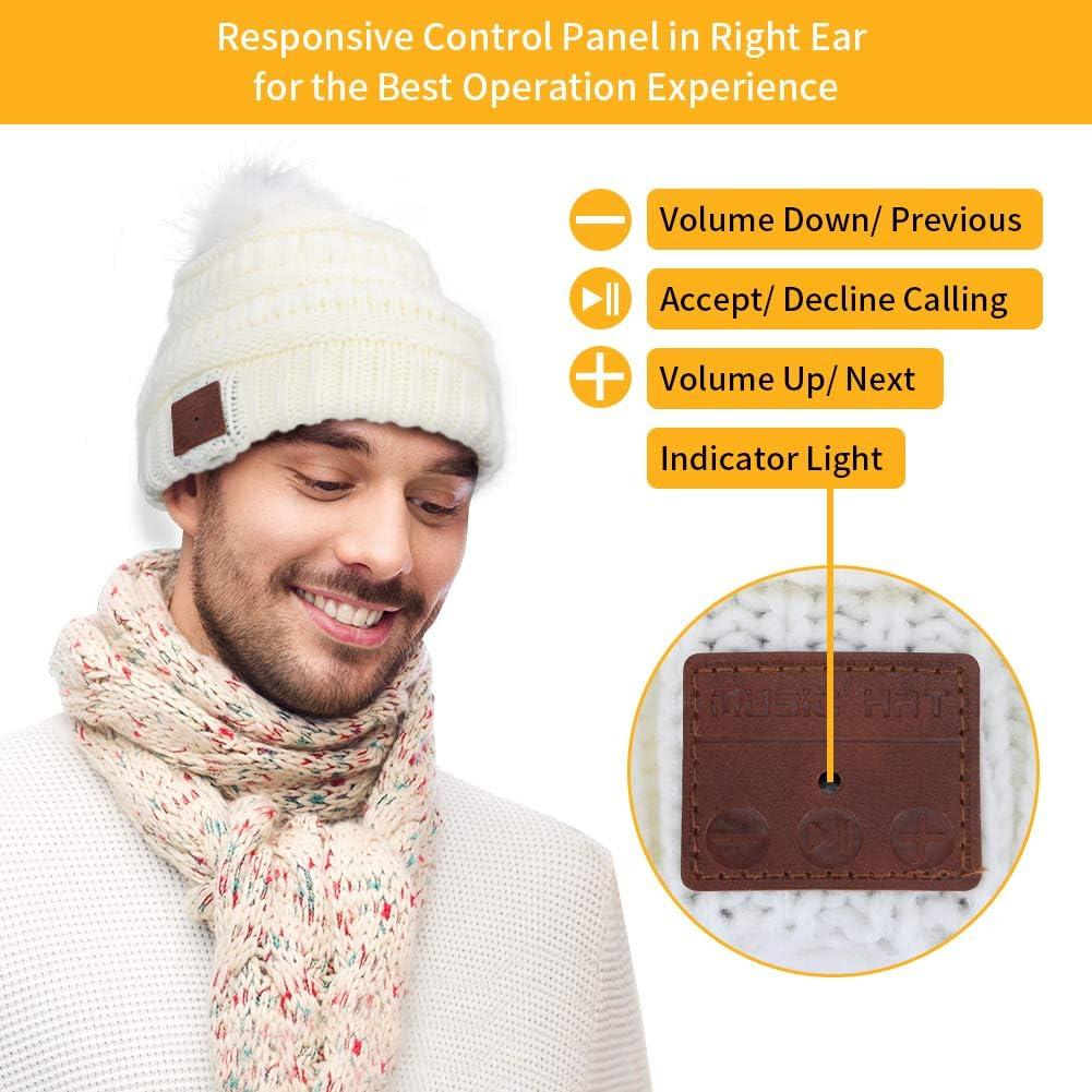 CestMall V5.0 Gorro Bluetooth Fashion Knit Beanie Gorro Bluetooth Invierno C/álido M/úsica Sombrero Auriculares Auriculares inal/ámbricos para Correr Esqu/í Senderismo Deportes de Invierno Ejercicio