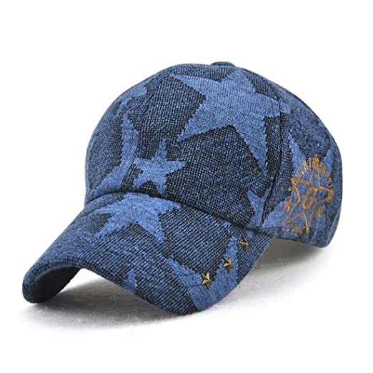 5172d410ac2 King Star Women Rivet Fashion Adjustable Baseball Cap Snapback Trucker Hat  Blue at Amazon Men s Clothing store