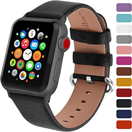 Fullmosa Genuine Leather Watch Band Compatible for Women Men Watch Series 5 Series 4 (40mm,44mm), Series 3/2/1 (38mm, 42mm) Sport and Edition with ...