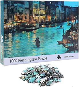 NEILDEN Puzzle for Adults 1000 Piece,Puzzle Art 1000 Pieces,Jigsaw Puzzles Landscapes, Pieces Fit Together Perfectly,Puzzle for Funny Family Games,Home Decoration(Venice,20x28 inch)