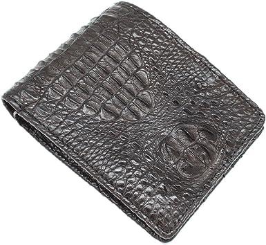 Double Side Black Genuine Alligator CROCODILE Leather Skin MEN/'S Bifold Wallet