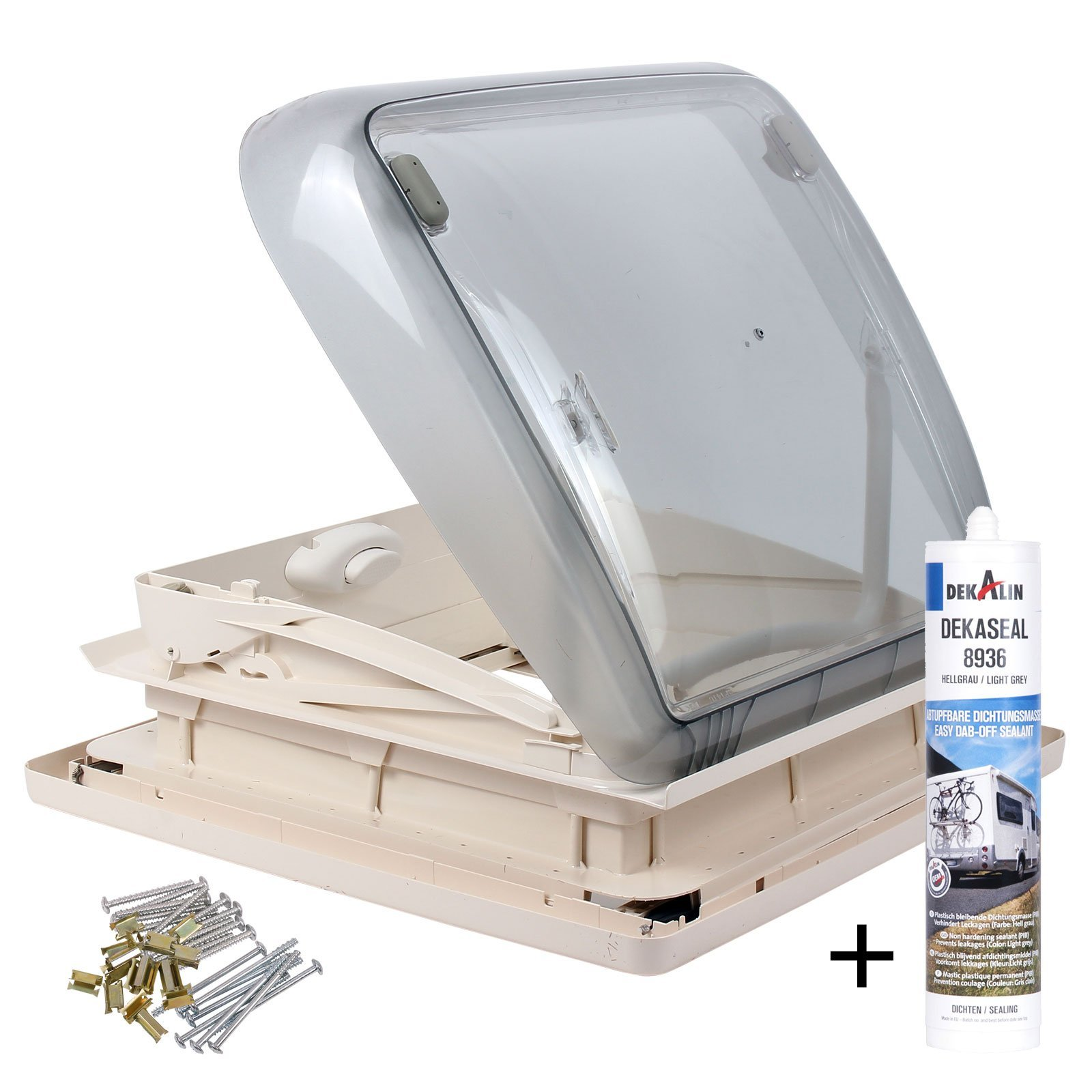 Dometic - Dekalin Dometic Mini Heki 40x 40Roof thickness 25-45 mm Straight Ventilation And Dekalin sealant For caravan Or camper
