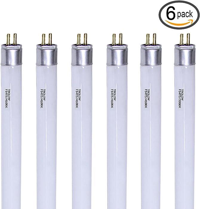 TriGlow (Pack of 6) F54T5/841/HO 54-Watt T5 High Output 4100K Cool White Light Bulbs