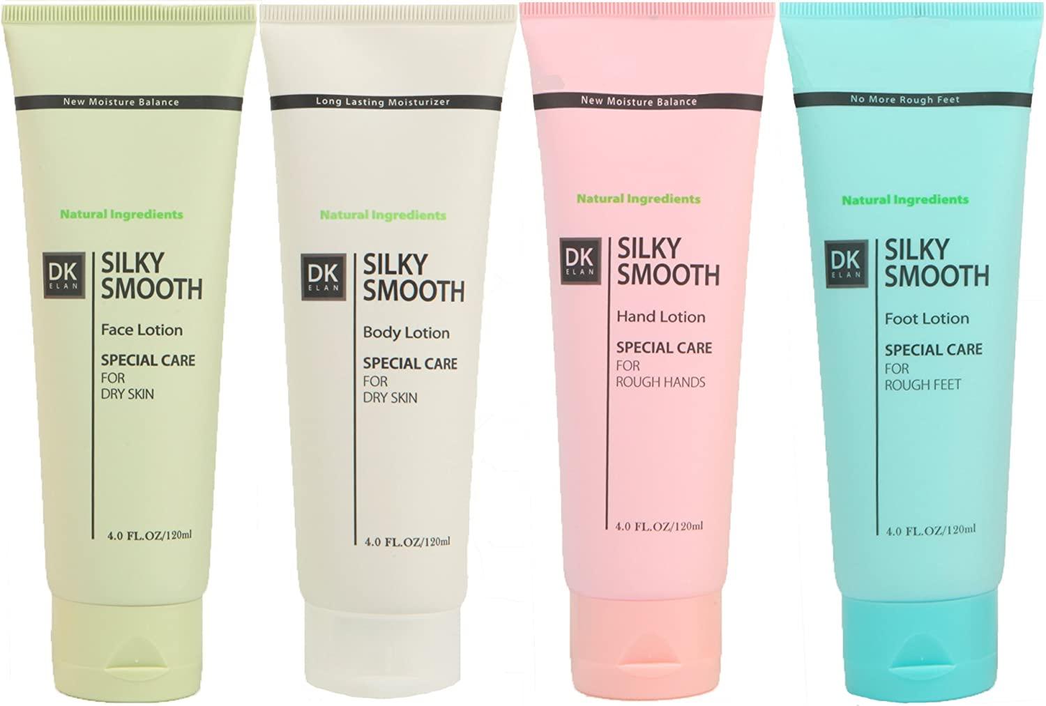 DK ELAN Silky Smooth Special Set (Face-Body-Hand-Foot) for Dry, Rough, Itchy, Scaly, Cracked Skin