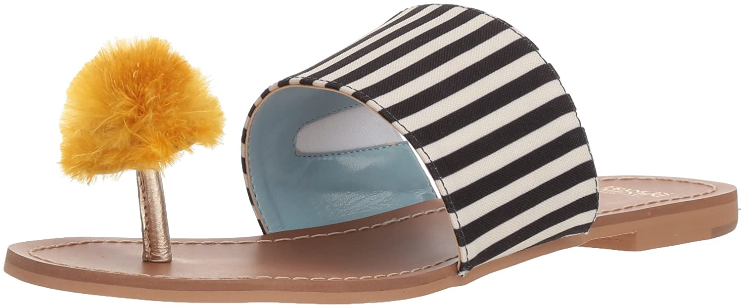 Frances Valentine Women's Clementine Slide Sandal B074P8BFD2 10.5 B(M) US|Black/Yellow