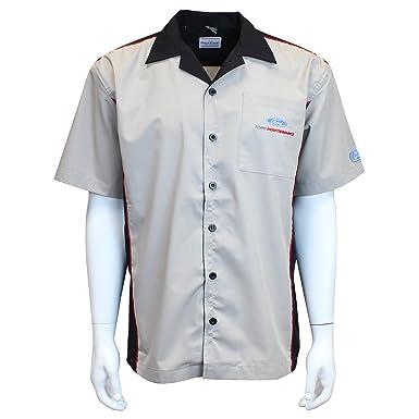 419224bef3 David Carey Ford Performance Pit Crew Shirt – Grey & Black – Button Up  Collared Short