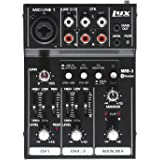LyxPro MRB3 3-Channel Audio Mixer – Flexible, Compact Personal Pro Audio Mixer with USB & Bluetooth Connections
