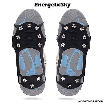 2e690702db EnergeticSky Crampon Antidérapant Anti-verglas Protection Antiglisse  Crampons Neige pour Activités Aux Zones Mouillées et