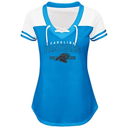 Amazon.com   NFL Womens Panthers S S MESH V Neck   Sports   Outdoors 0c18984c3