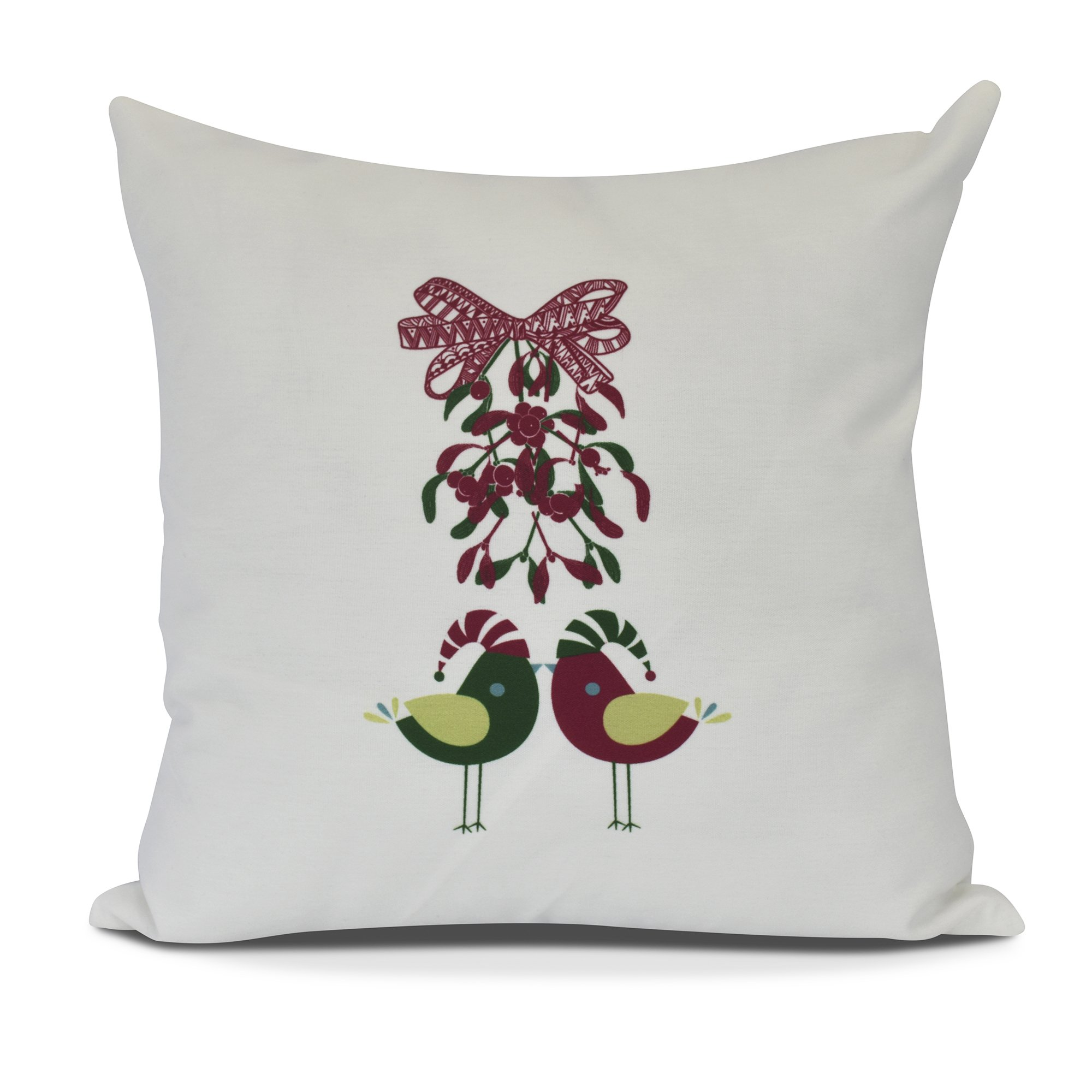 E by design O5PHA982WH1-20 Love Birds Decorative Animal Throw Outdoor Pillow, 20'', White