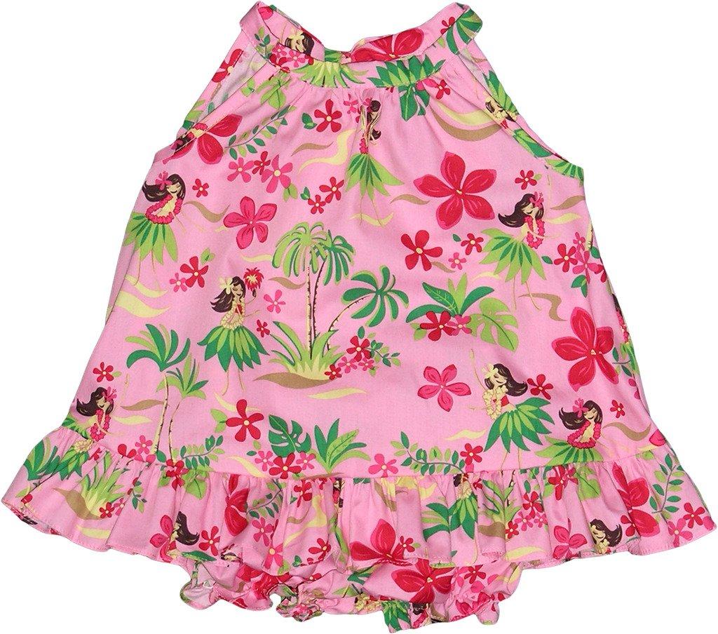RJC Baby Girl's Hula Spring Halter Hawaiian 2 Piece Dress Set Pink 2T by RJC (Image #1)