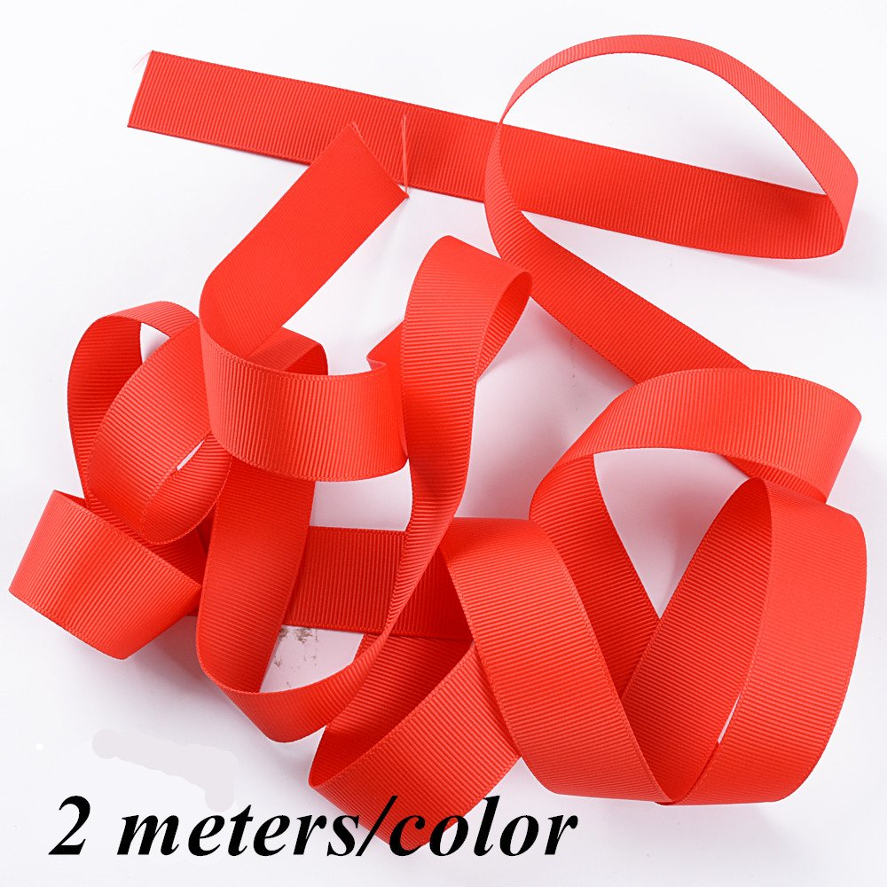 1088b14a1f97e 24pcs* 2M Grosgrain Ribbon 25mm Wide for DIY Ribbons Wrap Gift Ribbon Bulk  Lots Mix (25mm)