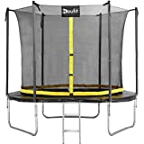 Doufit 8FT 10FT 12FT Trampoline with Enclosure Net and Ladder, TR-06 Outdoor Recreational Rebounder Trampoline for Kids…