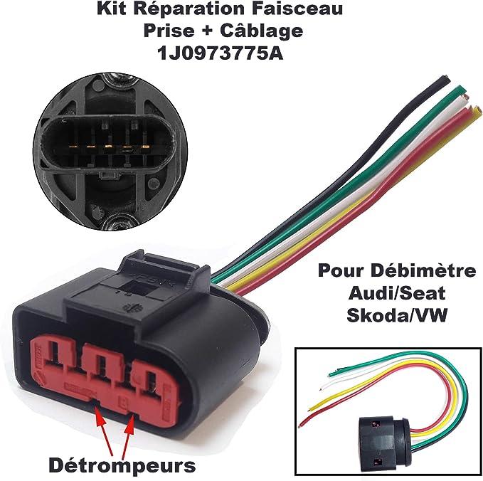 Reparatur Set Kabelbaum Stecker Stecker Stecker Anschluss Plug Adapter Für Debimeter 1j0 973 775 A 1j0973775a 1j0 973 775a 1j0 973 775a A2 A3 A4 A6 A8 Beetle Bora Golf Passat Auto