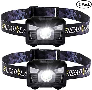 Six Foxes - Linterna frontal LED superbrillante, recargable, con ...