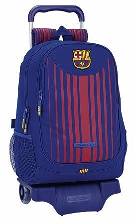 Safta Mochila F.C. Barcelona 17/18 Oficial Escolar Con Carro Safta 330x150x430mm: Amazon.es: Equipaje