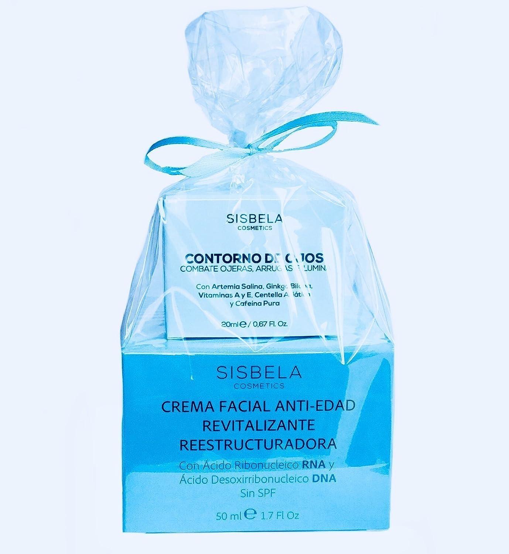 Crema Sisbela anti-edad revitalizante y Sisbela contorno de ojos - Sisbela beauty pack (crema Sisbela antiedad 50 ml y Sisbela contorno de ojos 20 ml): ...