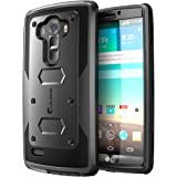 LG G4 Case, [Heave Duty] **Slim Protection** i-Blason Armorbox [Dual Layer] Hybrid Full-body Protective Case with Front Cover and Built-in Screen Protector / Impact Resistant Bumpers Cover for LG G4 2015 Release (Black)