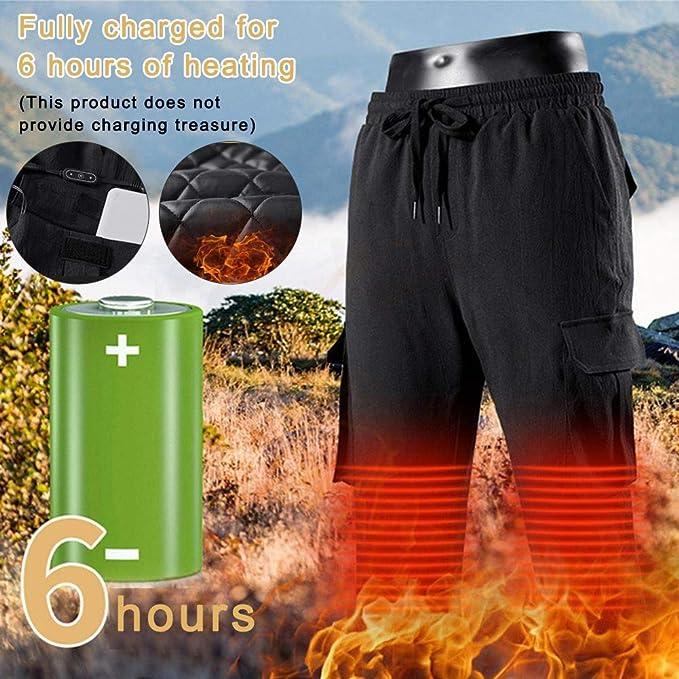 Pantalon Chauffant USB Rechargeable Pantalon /élastique isol/é sous-v/êtement chauff/é isol/é pour Le Camping la randonn/ée Le Ski Le Cyclisme Pantalon Chaud Chauffant /électrique pour Homme
