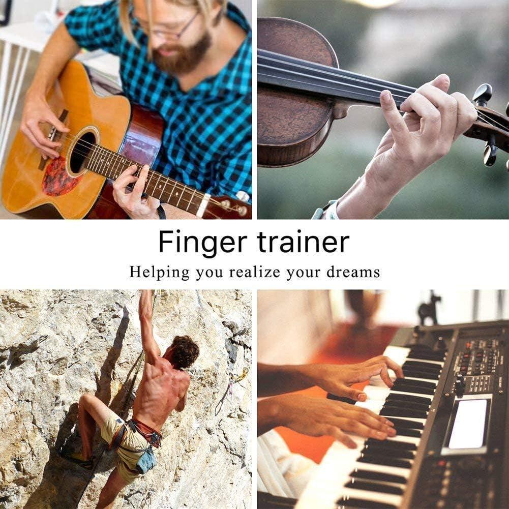 NOBRAND 3 Pack Hand Grip Strengthener Finger Exerciser Finger Stretcher /& Hand Resistance Bands Guitar Piano Rock Climbing Pull Strength Wrist for Arthritis Carpal Relieve Wrist Pain