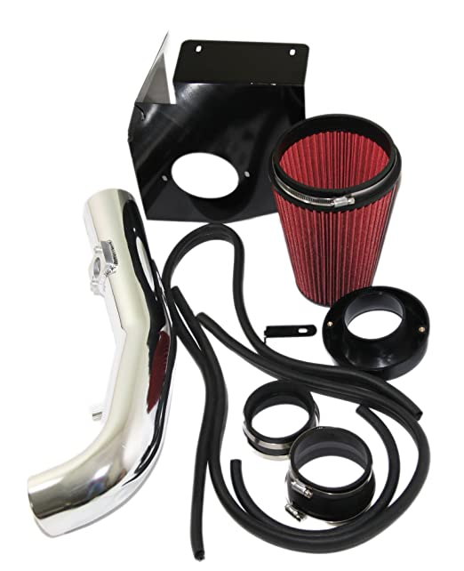 Amazon Com Red Cold Air Intake Kitheat Shield For 09 13 Chevy