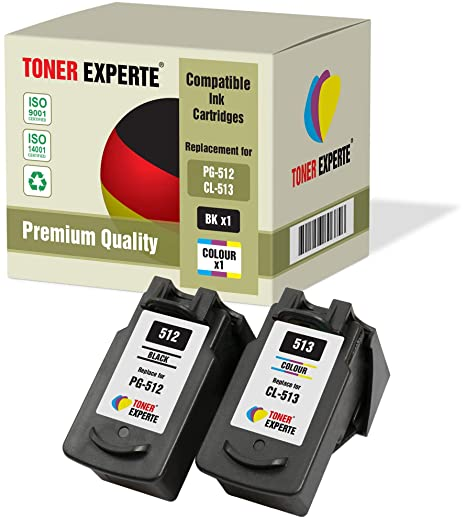 Pack de 2 XL TONER EXPERTE® Compatibles PG-512 CL-513 Cartuchos de ...