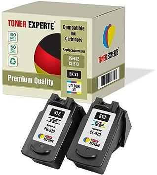 Pack de 2 XL TONER EXPERTE® Compatibles PG-512 CL-513 Cartuchos de Tinta para Canon Pixma iP2700, MP230, MP240, MP250, MP260, MP270, MP280, MP480, ...
