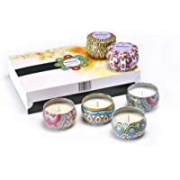 Scented Candles Gift Set 100% Natural Soy Wax Portable Travel Tin, Perfect Gift or Use for Weddings Party Birthdays Anniversary Christmas, Aromatherapy, Stress Relief Candles. Present for friends wife sister brother girlfriend girls her women men families on any occasions
