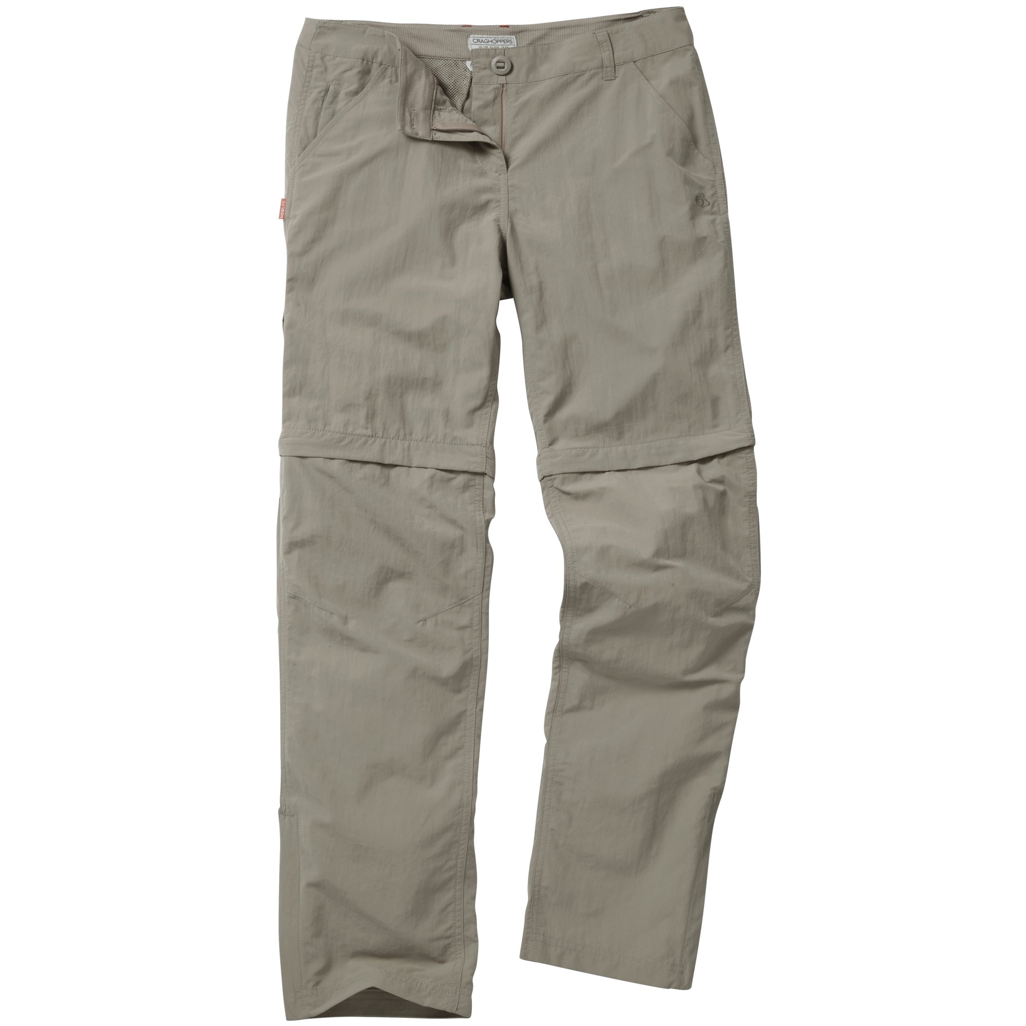 Craghoppers Womens/Ladies Nosilife Insect Repellent Zip Off Trousers/Pants (12R) (Platinum)