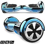 Markboard Hoverboard Gyropode 6.5 Pouces Bluetooth LED, Smart Scooter Auto-Équilibrage certifié CE, Bon Cadeau Noel