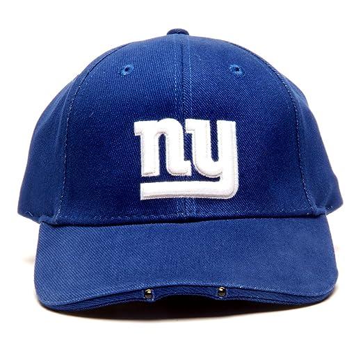 12d99150cb3 Amazon.com   NFL New York Giants Dual LED Headlight Adjustable Hat   Giants Light  Up Hat   Clothing