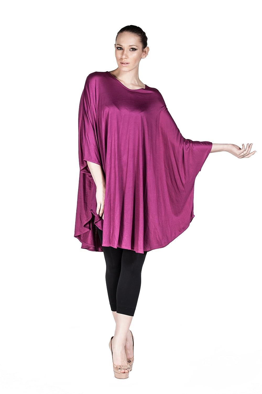 70% de descuento Mujer túnica largo Loose Fit de fibra de viscosa ...