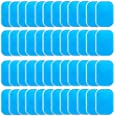 LEKEONE 50 Pcs/25 Packs Pads Abs Trainer Replacement Gel Sheet for Abdominal Muscle Trainer, Accessory for Ab Workout Toning