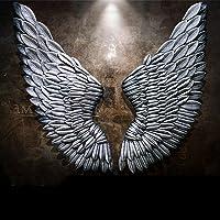 X&ME American Retro Creative Angel Wings Decorazione da Parete Stereo, Bar Cafe Wall Decorazione Creativa da Parete