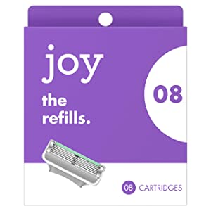 joy Five-Bladed, 8 Razor Blade Refills
