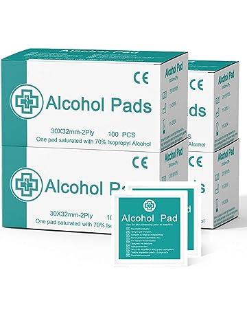 ARTIFUN Lingettes Humides Jetables Alcool 75/% Antivirus Lingettes de St/érilisation Portables M/édicales Nettoyage /à la Main Coton Alcool