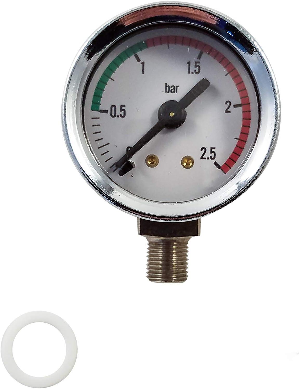 ELEKTRA SAVINELLI BOILER PRESSURE GAUGE CHROME ø 42 mm 0÷3 bar LA PAVONI