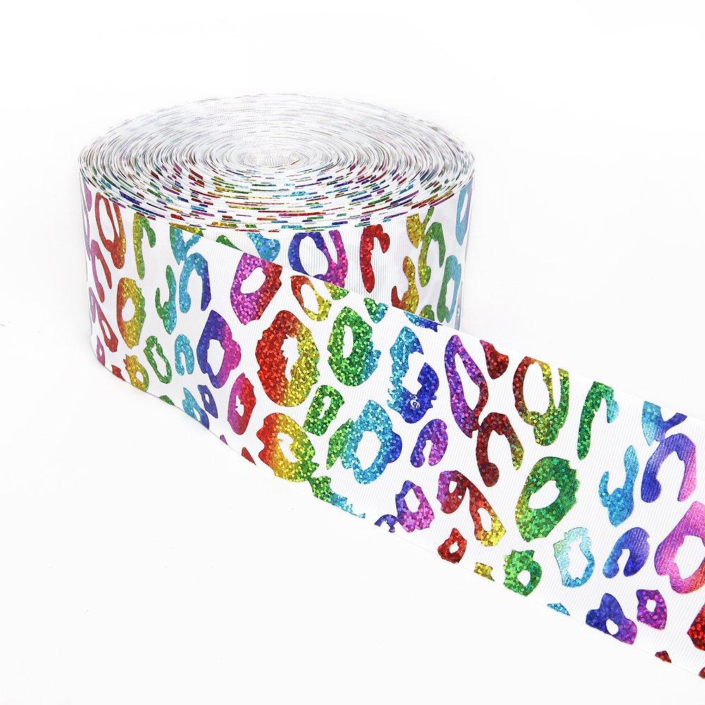 Amazon Com Leopard Grain Design Shiny Laser Grosgrain Ribbon 3