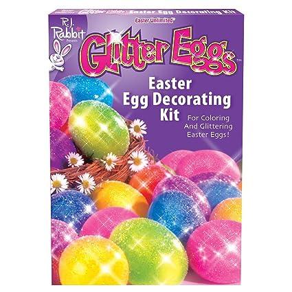 Amazon.com: Fun World BB1754C Glitter Eggs Easter Egg Decorating Kit ...