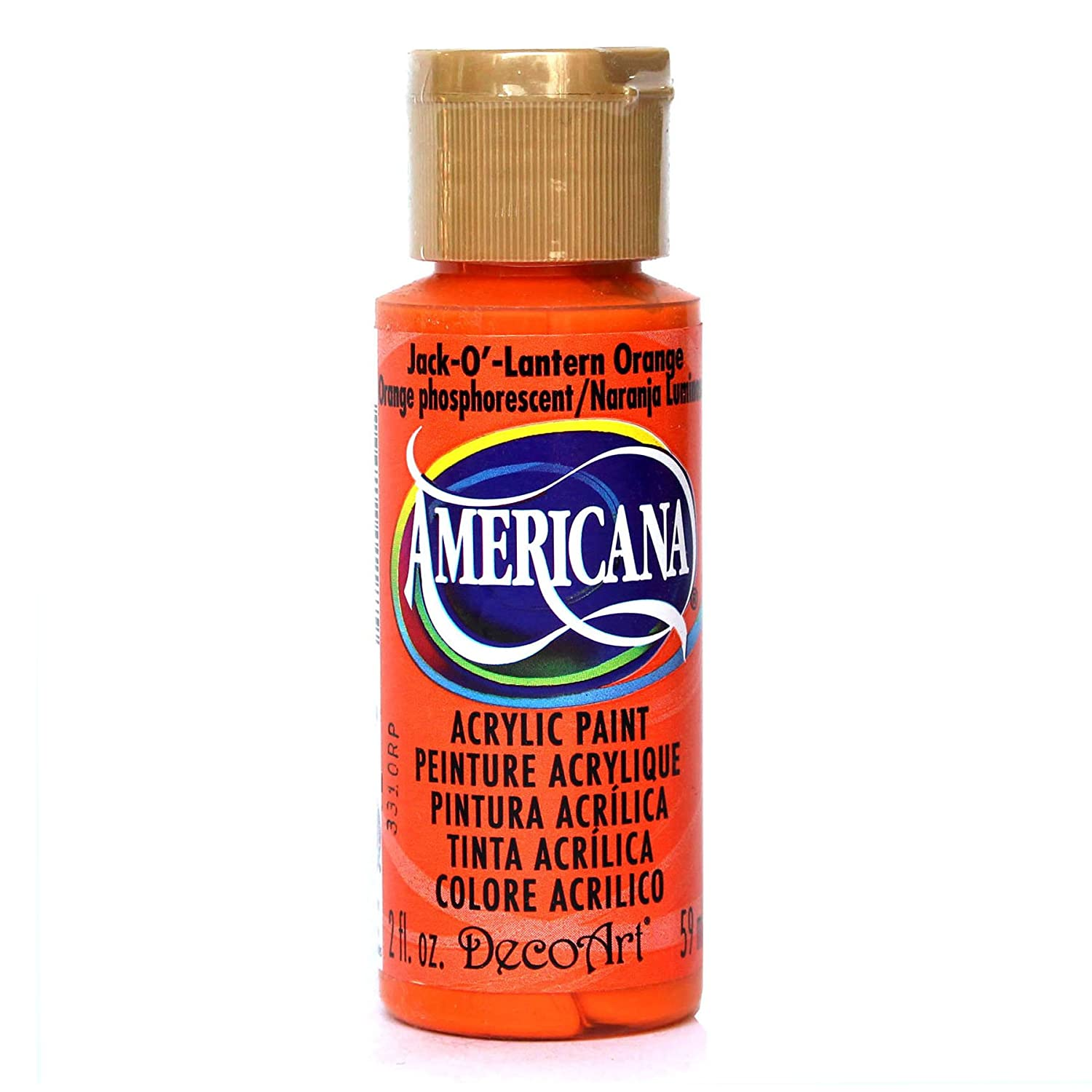 Deco Art Americana Acrylic Multi-Purpose Paint, Jack-O-Lantern Orange DecoArt DA229-3