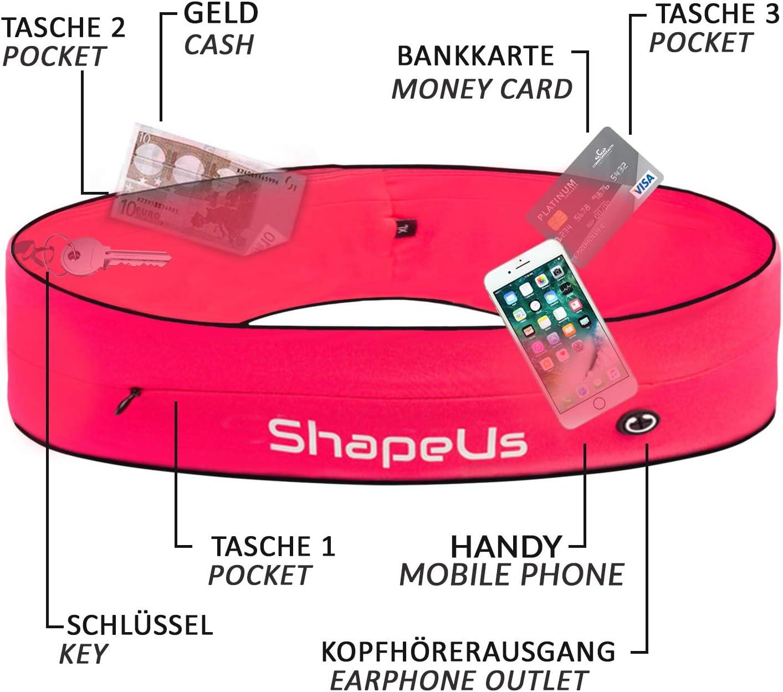 Laufg/ürtel f/ür Smartphones Idealer Begleiter f/ür Sport Elastische H/üfttasche f/ür Damen /& Herren