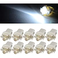 10 bombillas LED T5 B8.5D para salpicadero cuadro