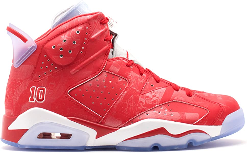 02fece8c2300 Mens Air Jordan 6 Retro X Slam Dunk Varsity Red-White Leather Basketball  Shoes